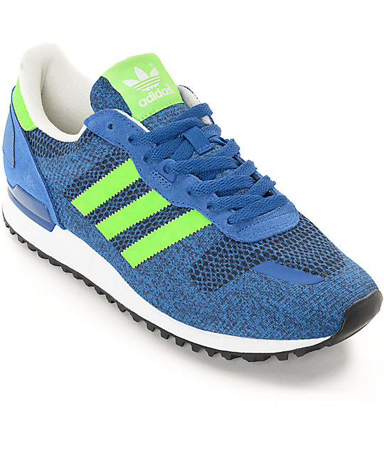 lowest price 65cce 86dea adidas ZX 700 IM Blue   Green Shoes   Zumiez