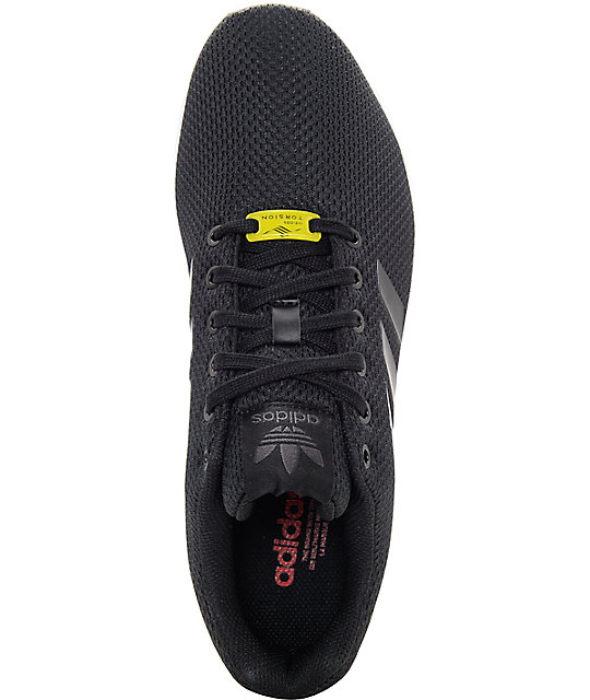 sale retailer 8c039 5f797 adidas ZX Flux Black & White Shoes