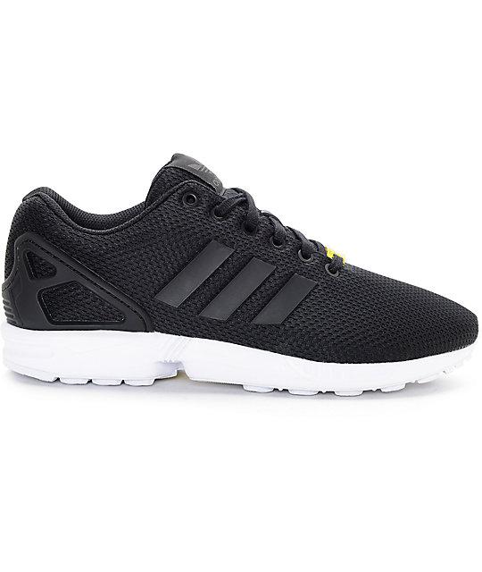 15b9d55e9af46 ... adidas ZX Flux Black   White Shoes