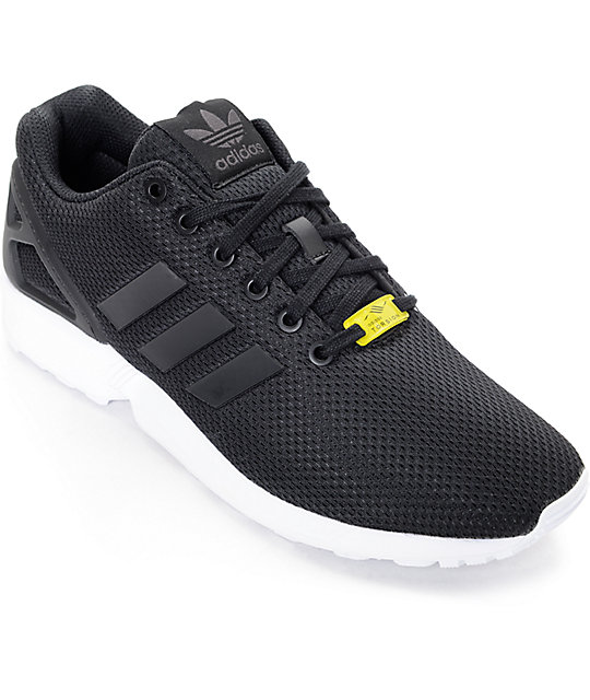 sale retailer a66d9 c4212 adidas ZX Flux Black & White Shoes