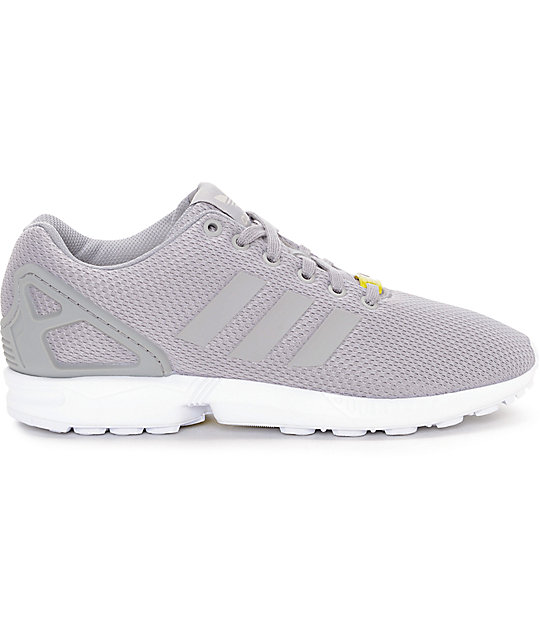 reputable site efd58 88f80 adidas ZX Flux Granite Grey & White Shoes