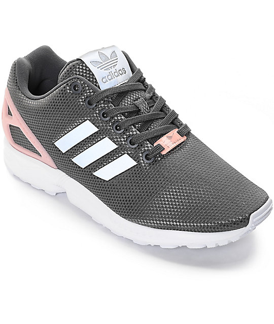 promo code 7d740 17a09 adidas ZX Flux Grey Shoes   Zumiez
