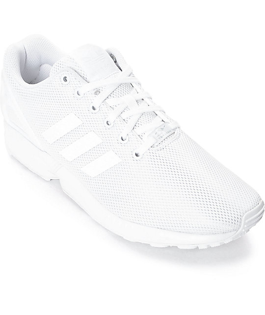 premium selection 23c6e 28823 adidas ZX Flux Mono White Shoes