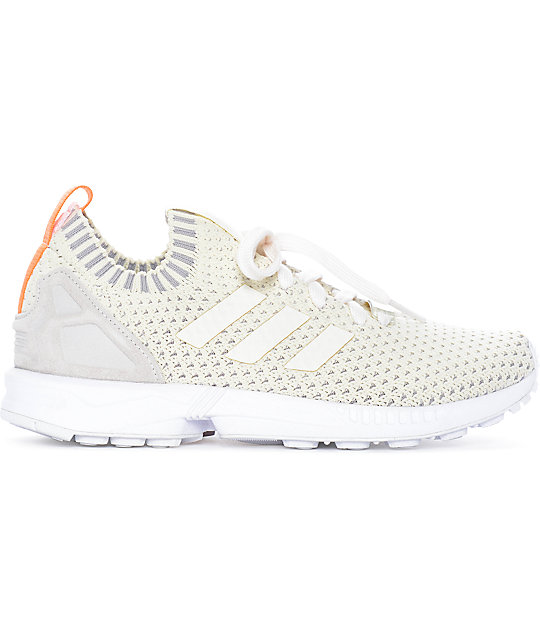 detailing 5a766 054cb adidas ZX Flux White Primeknit Shoes