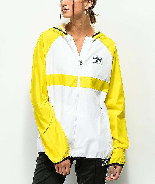 lo mas baratas oferta especial la mejor moda adidas chaqueta cortavientos amarilla y blanca