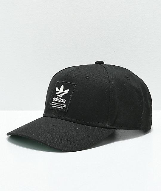 adidas gorra negra con parche de Trefoil ... 6c91f39aeb8