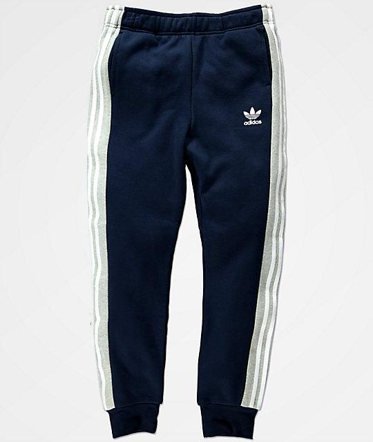 fc62690ba adidas pantalones de chándal y polar en azul marino para niños ...