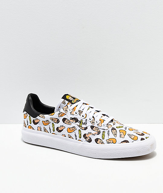 adidas x Beavis & Butthead 3MC White Skate Shoes