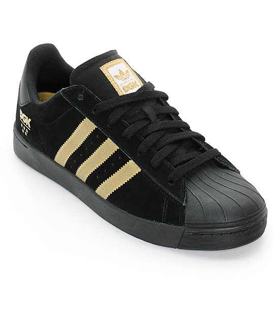 Black And Gold Adidas Track Shoes