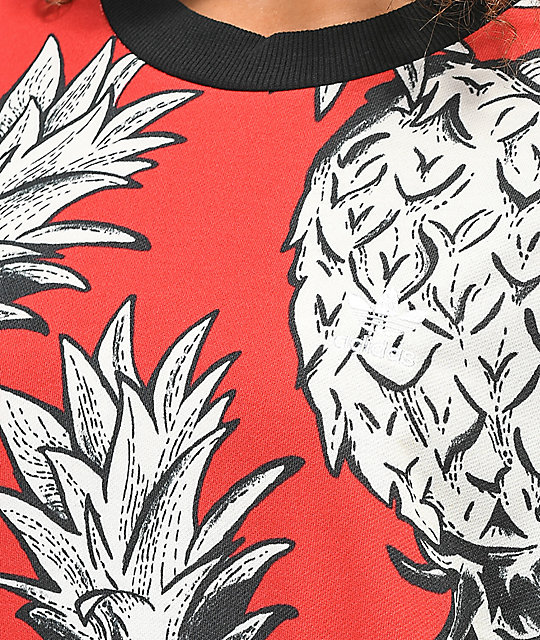 adidas x Farm Red Pineapple sudadera con cuello redondo