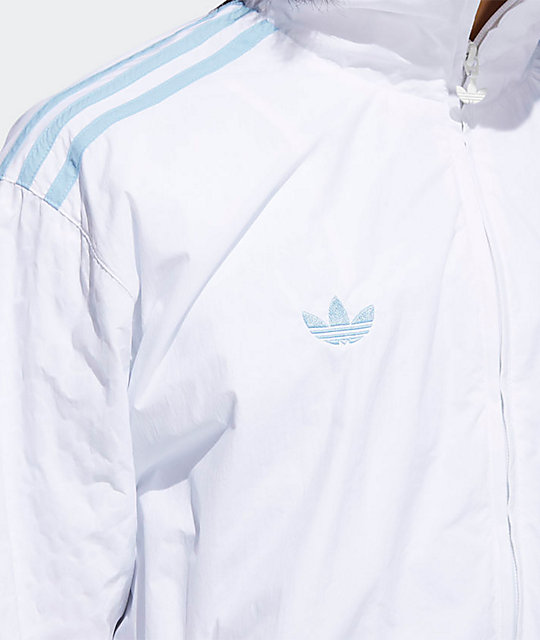 adidas x Krooked White & Clear Blue Track Jacket