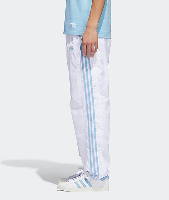 adidas x Krooked White & Clear Blue Track Pants