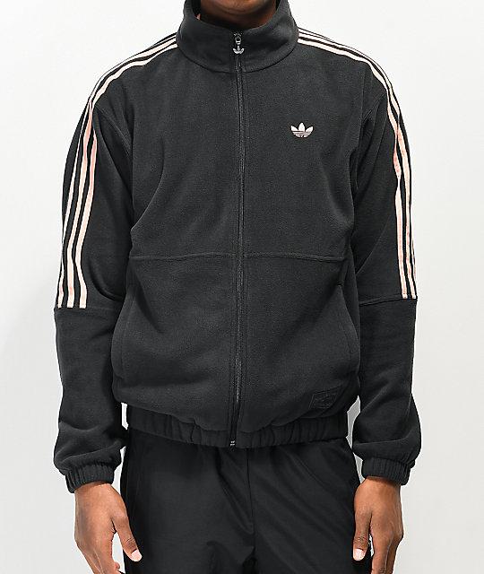 Pink chaqueta x negra Nora Glow de adidas polar jL43R5Aq