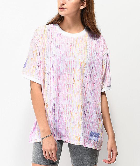blanca Nora rosa Watercolor x camiseta y adidas WEIDYbH2e9