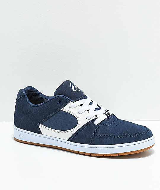 eS Accel Slim Asta Blue & White Skate Shoes
