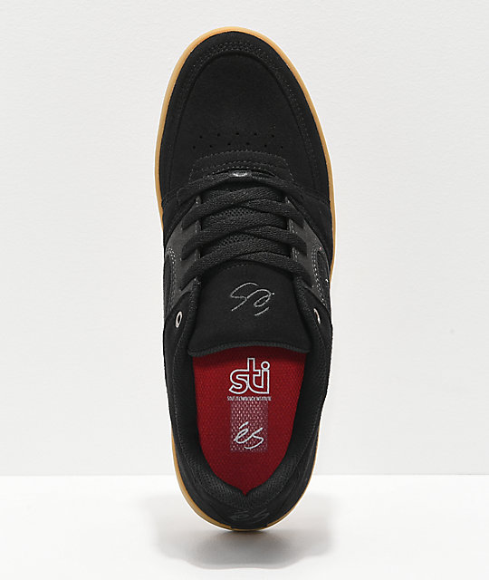 eS Accel Slim Black, Grey & Gum Skate Shoes