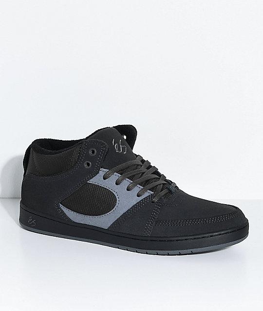 6df8c9bb37 eS Accel Slim Dark Grey   Black Mid Skate Shoes