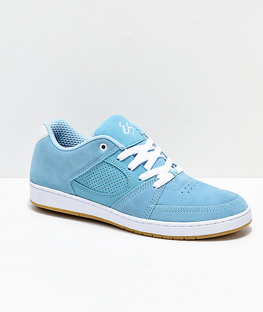 eS Accel Slim Light Blue Skate Shoes