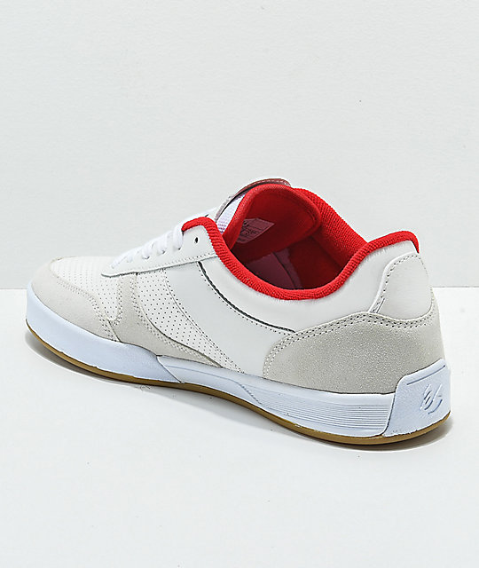 eS Contract Tom Asta White & Red Skate Shoes