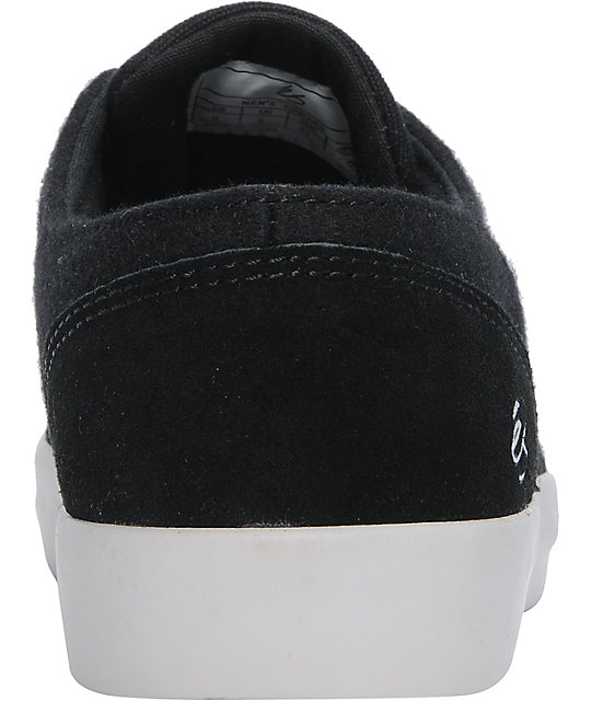 eS Edward Black & Grey Wool Skate Shoes