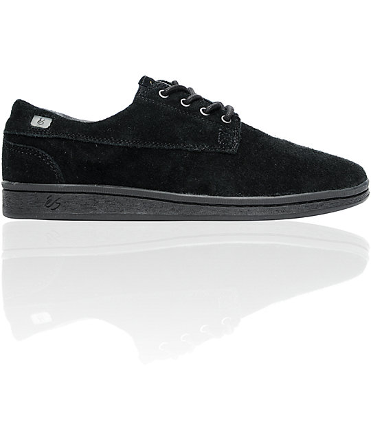 eS Radius Black Suede Skate Shoes