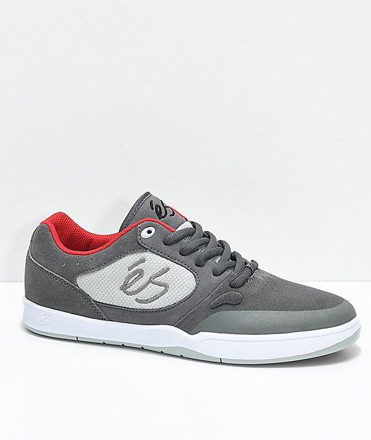 eS Swift 1.5 Grey & White Skate Shoes