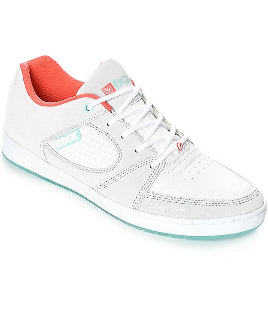 072fbcd4883fad eS x DGK Accel Slim Grey   White Skate Shoes