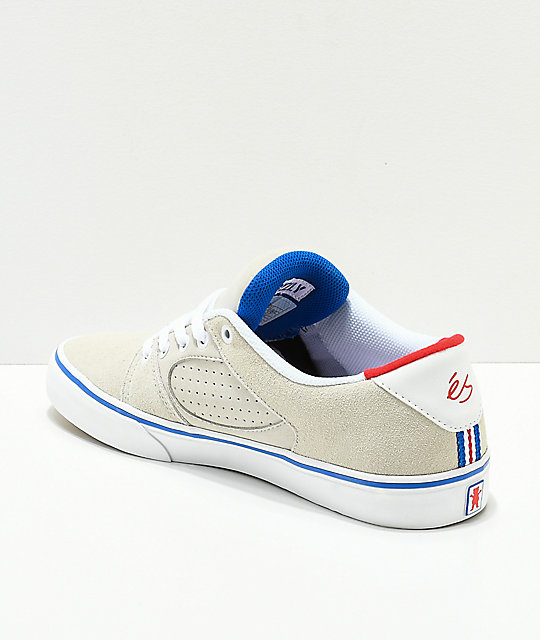eS x Grizzly Square Three White & Blue Skate Shoes