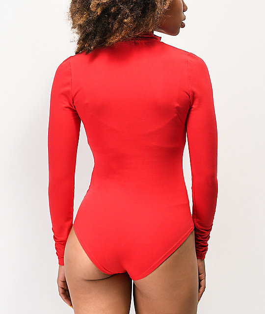 ellesse Giganto Red Long Sleeve Bodysuit