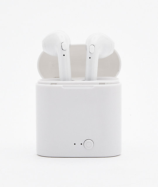 iT7 White Wireless Earbuds