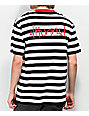 4Hunnid Members Black & White Striped T-Shirt