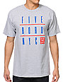5BORO Five Boro NYC Grid Heather Grey T-Shirt