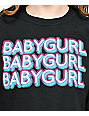 A-Lab Baby Girl Black Long Sleeve Crop T-Shirt