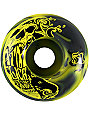 ATM Skull Yellow & Black Swirl Skateboard Wheels