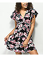 Almost Famous Black Floral Fit & Flare Dress