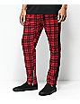 American Stitch Red Plaid Track Pants