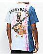 Anonymous Gas Mask Baby Blue & Pink Tie Dye T-Shirt