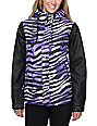 Aperture Girl Fakie Zebra Purple 10K Snowboard Jacket