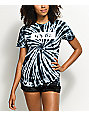 Artist Collective Its Lit Black Spiral Tie Dye T-Shirt