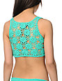 Beach Riot Farrow Mint Green Crochet Back Bikini Top