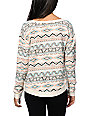 Billabong Flower Spirit Milena White Crew Neck Sweatshirt