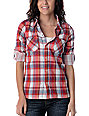 Billabong Sharpe Red Plaid Woven Shirt
