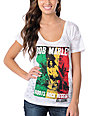 Billabong x Bob Marley Roots White Burnout Scoop Neck T-Shirt