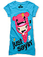 Bitter Sweet x Zoodorable Just Sayin Turquoise T-Shirt