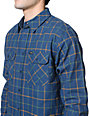 Brixton Bowery Blue Plaid Long Sleeve Button Up Shirt