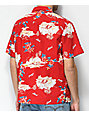 Brixton Bueller Tropical Red Button Up Shirt