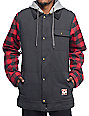 Burton Dunmore Black & Plaid Jacket