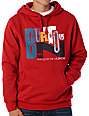 Burton Stampled Red Pullover Hoodie