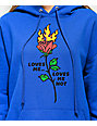 By Samii Ryan Loves Me Blue Hoodie