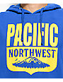 Casual Industrees PNW Shield Royal Blue Hoodie